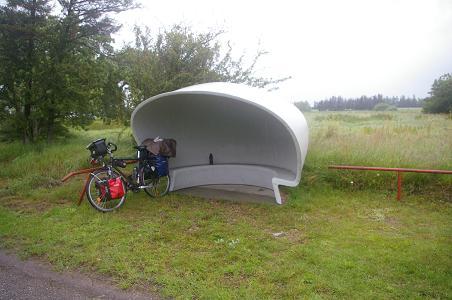 angenehmer dänischer Regenschutz